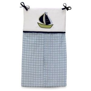 Nautica Zachary Diaper Stacker Blue Green Plaid
